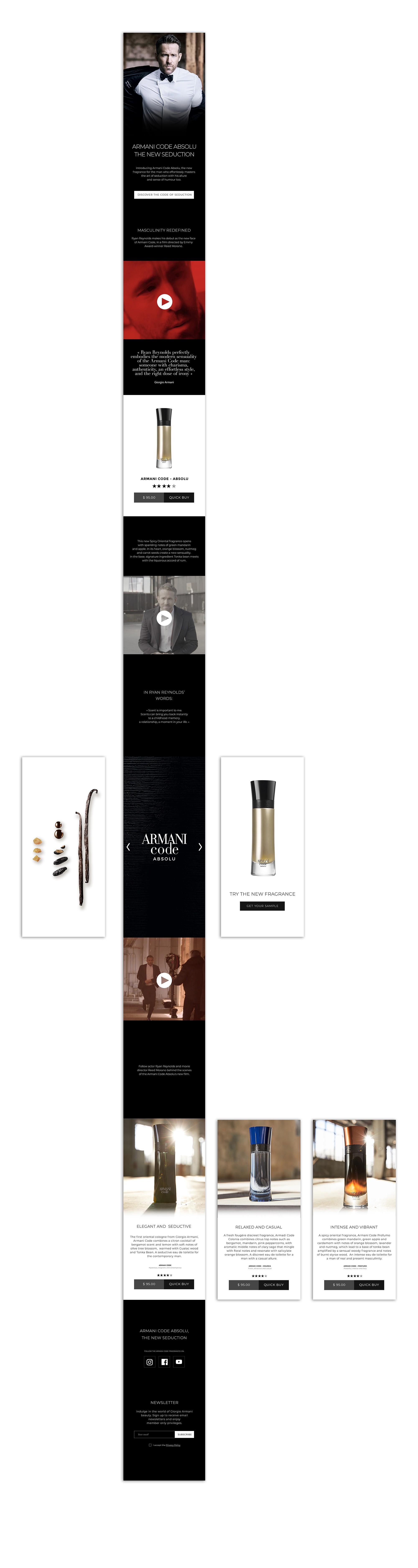 Landing-page-ARMANI-mobile